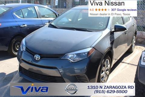 2016 Toyota Corolla for sale in El Paso, TX