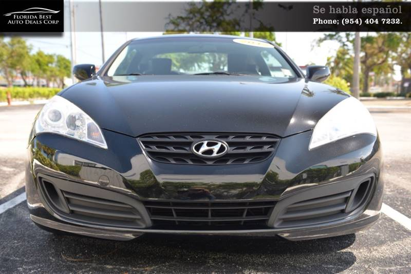 2012 Hyundai Genesis Coupe For Sale At Florida Best Auto Deals Corp In  Hallandale Beach FL