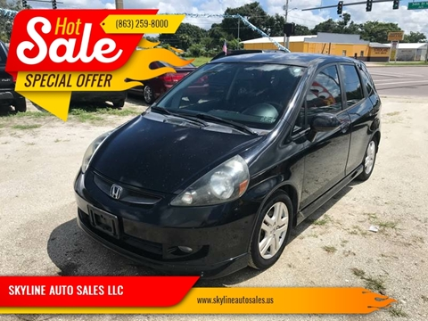 2007 Honda Fit for sale at SKYLINE AUTO SALES LLC in Winter Haven FL