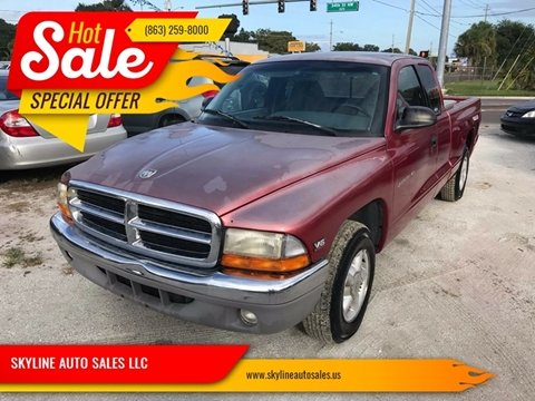 1998 Dodge Dakota for sale at SKYLINE AUTO SALES LLC in Winter Haven FL