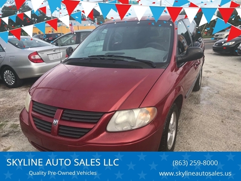2006 Dodge Caravan for sale at SKYLINE AUTO SALES LLC in Winter Haven FL
