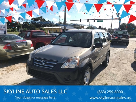 2005 Honda CR-V for sale at SKYLINE AUTO SALES LLC in Winter Haven FL