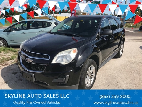 2012 Chevrolet Equinox for sale at SKYLINE AUTO SALES LLC in Winter Haven FL
