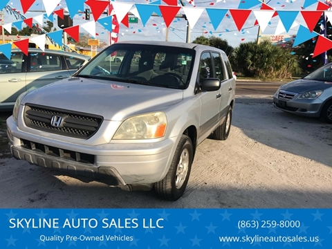 2003 Honda Pilot for sale at SKYLINE AUTO SALES LLC in Winter Haven FL
