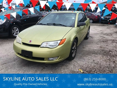 2004 Saturn Ion for sale at SKYLINE AUTO SALES LLC in Winter Haven FL