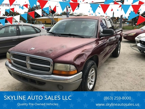 2001 Dodge Dakota for sale at SKYLINE AUTO SALES LLC in Winter Haven FL