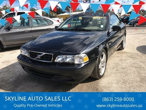 2004 Volvo C70 for sale at SKYLINE AUTO SALES LLC in Winter Haven FL