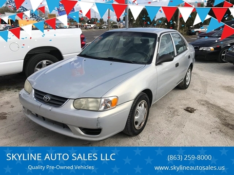 2001 Toyota Corolla for sale at SKYLINE AUTO SALES LLC in Winter Haven FL