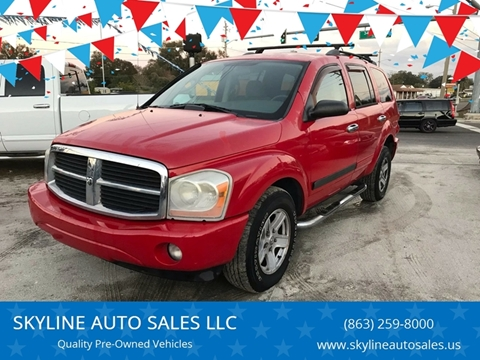 2006 Dodge Durango for sale at SKYLINE AUTO SALES LLC in Winter Haven FL