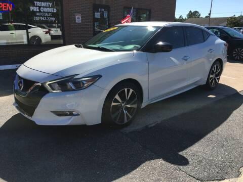 2016 Nissan Maxima for sale at Bankruptcy Car Financing in Norfolk VA
