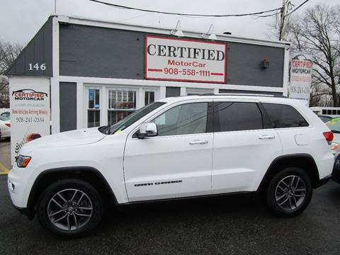 2017 Jeep Grand Cherokee Limited for sale at CERTIFIED MOTORCAR LLC in Roselle Park NJ