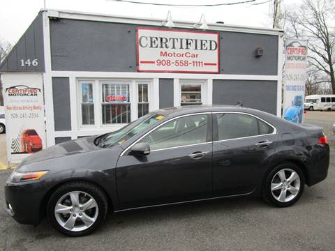 2013 Acura TSX w/Tech for sale at CERTIFIED MOTORCAR LLC in Roselle Park NJ