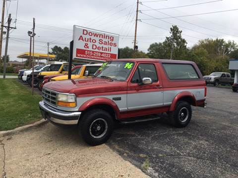 1996 Ford Bronco for sale at Downing Auto Sales in Des Moines IA