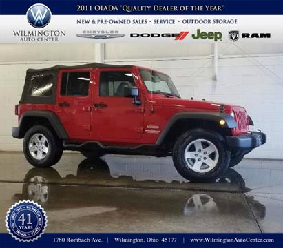 2012 Jeep Wrangler Unlimited for sale in Wilmington OH