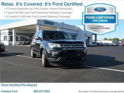 2018 Ford Explorer for sale in Greenfield, IN