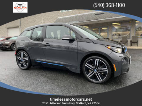 2015 BMW i3 for sale at TIMELESS MOTORCARS in Stafford VA