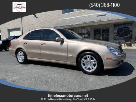 2006 Mercedes-Benz E-Class E 350 4MATIC for sale at TIMELESS MOTORCARS in Stafford VA