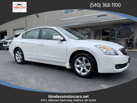 2008 Nissan Altima for sale at TIMELESS MOTORCARS in Stafford VA
