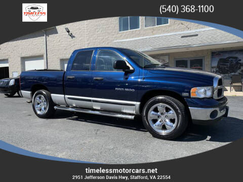 2005 Dodge Ram Pickup 1500 for sale at TIMELESS MOTORCARS in Stafford VA