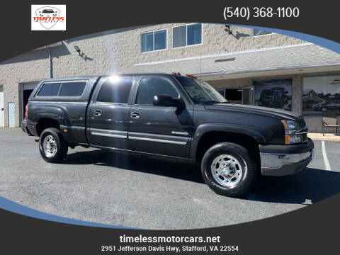 2003 Chevrolet Silverado 1500HD for sale at TIMELESS MOTORCARS in Stafford VA