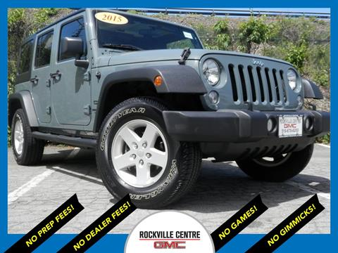 2015 Jeep Wrangler Unlimited for sale in Rockville Centre, NY