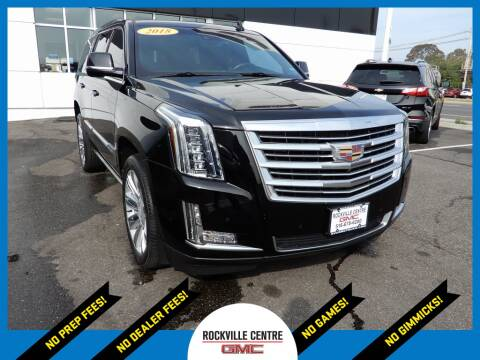 2018 Cadillac Escalade for sale at Rockville Centre GMC in Rockville Centre NY