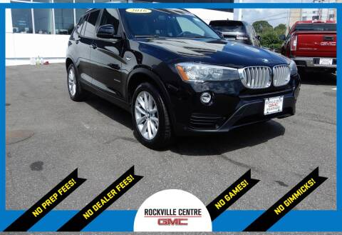 2016 BMW X3 for sale at Rockville Centre GMC in Rockville Centre NY