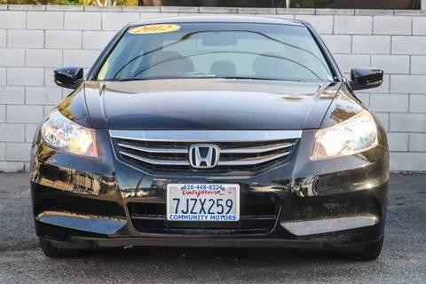 2012 Honda Accord for sale at Community Motors in El Monte CA