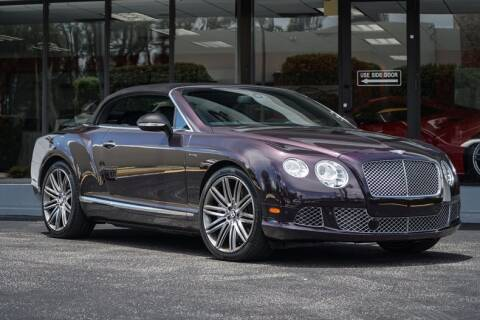 2014 Bentley Continental GT Speed for sale at The Garage in Doral FL