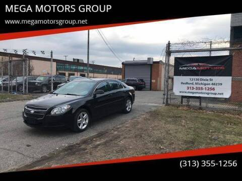 2012 Chevrolet Malibu for sale at MEGA MOTORS GROUP in Redford MI