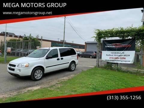 2009 Chevrolet Uplander for sale at MEGA MOTORS GROUP in Redford MI