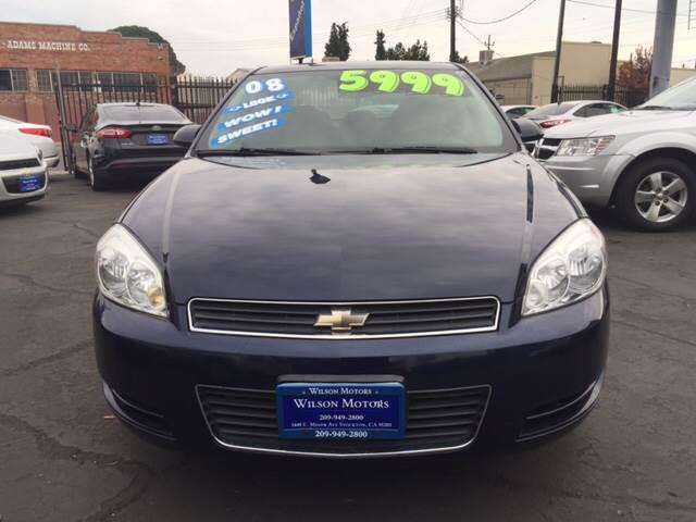 2008 Chevrolet Impala For Sale At WILSON MOTORS In Stockton CA