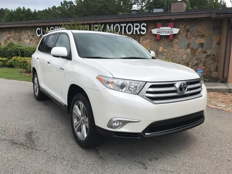 2012 Toyota Highlander for sale at Classy And Luxury Motors in Marietta GA