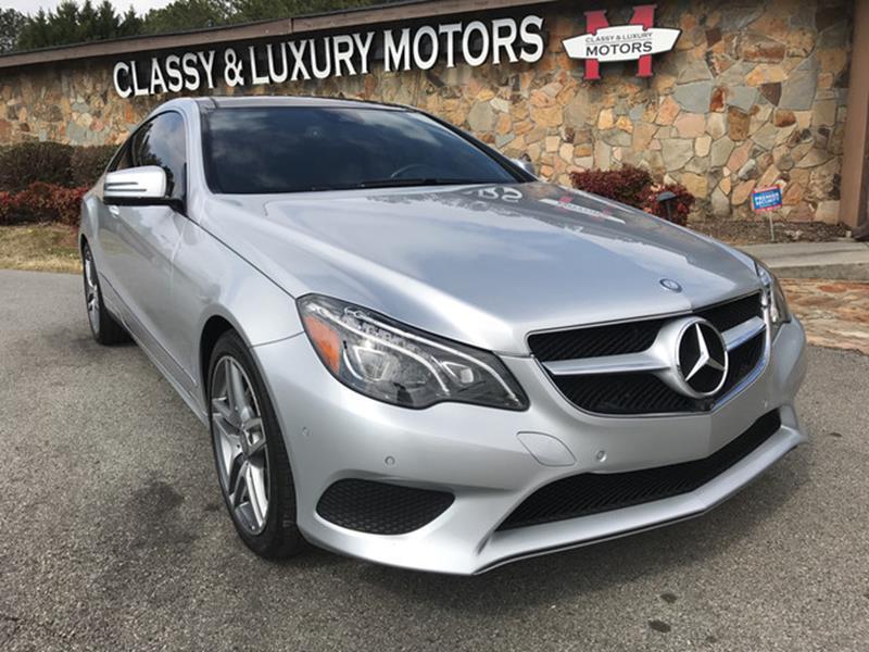2014 Mercedes-Benz E-Class for sale at Classy And Luxury Motors in Marietta GA