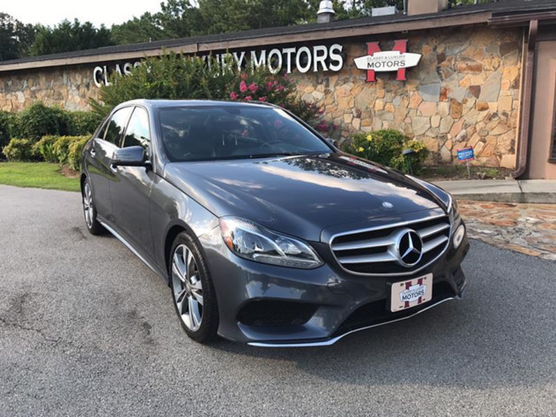 2015 Mercedes-Benz E-Class for sale at Classy And Luxury Motors in Marietta GA
