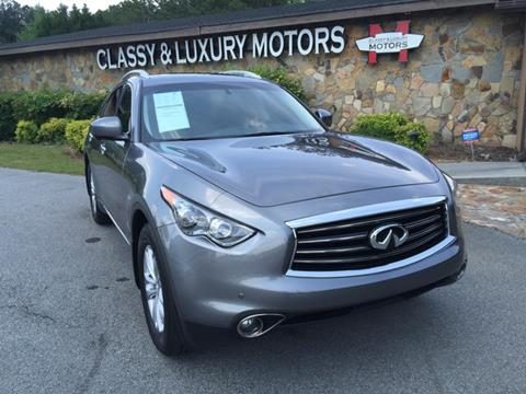 2013 Infiniti FX37 for sale at Classy And Luxury Motors in Marietta GA