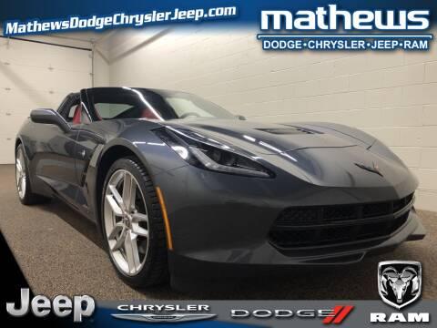 2014 Chevrolet Corvette Stingray Z51 for sale at MATHEWS DODGE INC in Marion OH
