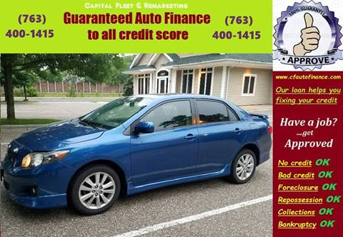 2009 Toyota Corolla S for sale at Capital Fleet  & Remarketing  Auto Finance in Columbia Heights MN