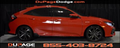 2019 Honda Civic Sport Touring for sale at DuPage Dodge Chrysler Jeep in Glendale Heights IL