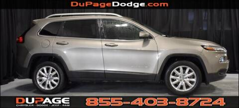 2017 Jeep Cherokee Limited for sale at DuPage Dodge Chrysler Jeep in Glendale Heights IL