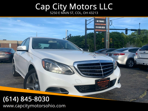 2014 Mercedes-Benz E-Class for sale at Cap City Motors LLC in Columbus OH