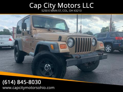 2000 Jeep Wrangler Sport for sale at Cap City Motors LLC in Columbus OH