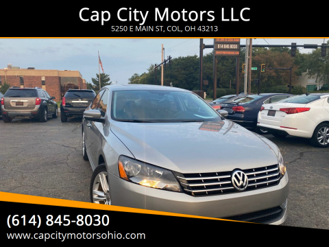 2013 Volkswagen Passat for sale at Cap City Motors LLC in Columbus OH