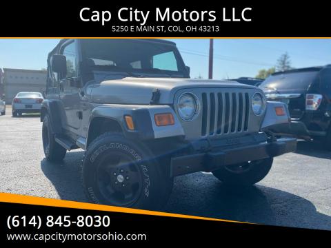 2000 Jeep Wrangler for sale at Cap City Motors LLC in Columbus OH