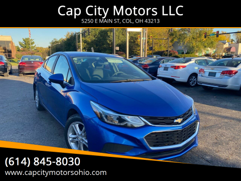 2017 Chevrolet Cruze for sale at Cap City Motors LLC in Columbus OH