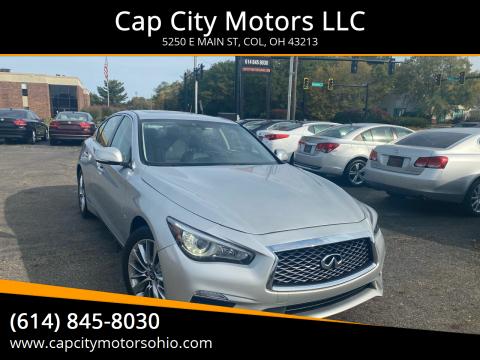 2018 Infiniti Q50 for sale at Cap City Motors LLC in Columbus OH