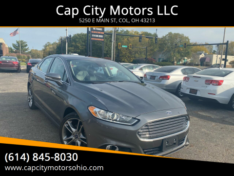 2014 Ford Fusion for sale at Cap City Motors LLC in Columbus OH