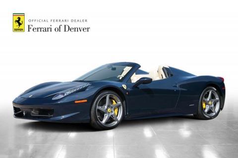 2012 Ferrari 458 Spider for sale in Highlands Ranch, CO