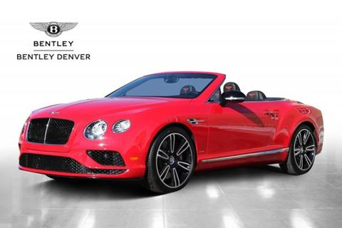 2017 Bentley Continental GTC V8 S for sale in Highlands Ranch, CO