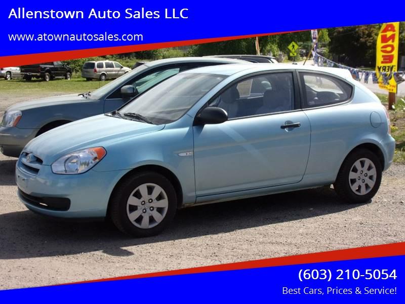 2008 Hyundai Accent For Sale At Allenstown Auto Sales LLC In Allenstown NH